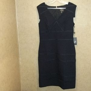 Adrianna papell size 10 navy blue dress